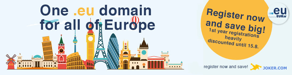 .EU domains for a small price, only 1.00 Euro for one year
